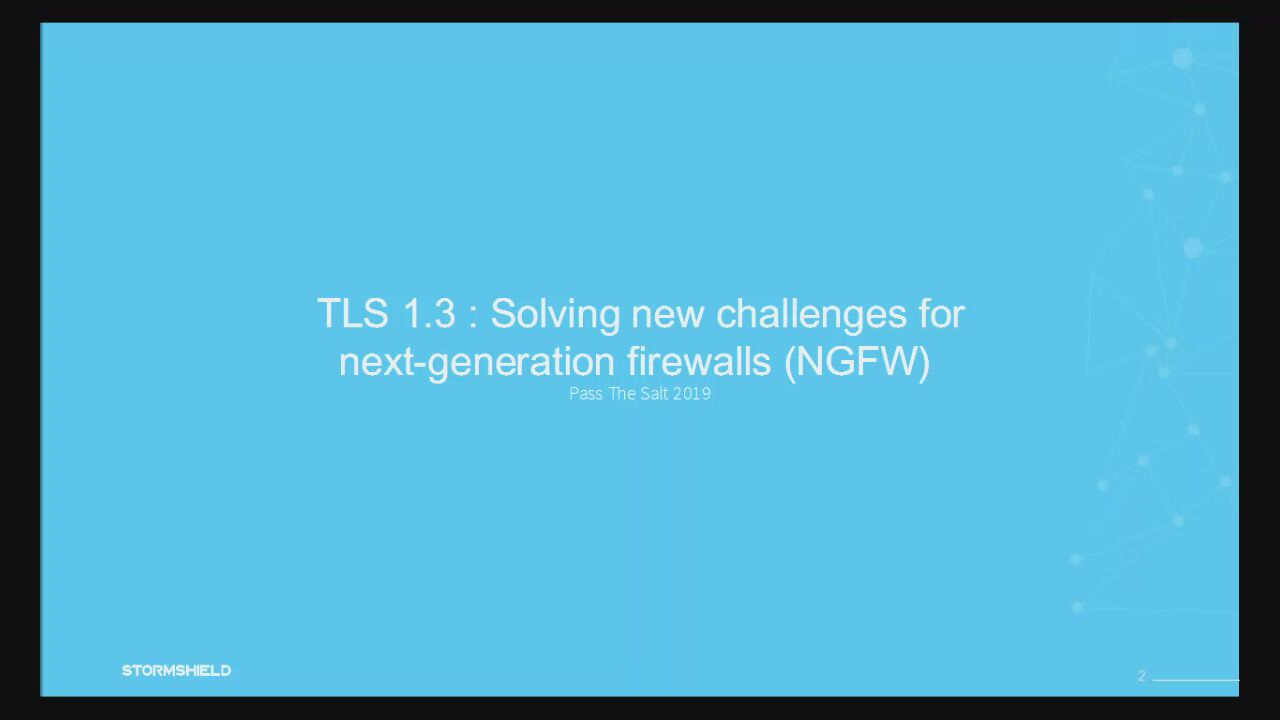 TLS 1 3, Solving new challenges for next generation