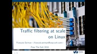 Traffic filtering at scale on Linux