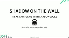 Shadow on the Wall - Risks and Flaws with Shadowsocks